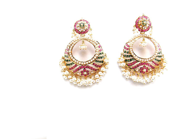 30.50g 22Kt Gold Jarou Earrings - 2134