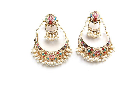 30.60g 22Kt Gold Jarou Earrings - 2135