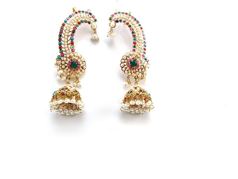32.00g 22Kt Gold Jarou Earrings - 2136