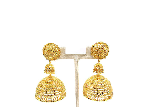 42.30g 22Kt Gold Jumki Earrings - 2140