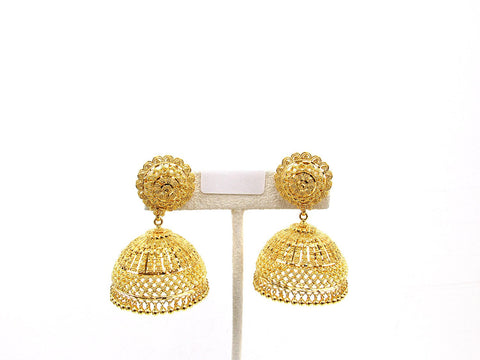 36.20g 22Kt Gold Jumki Earrings - 2141