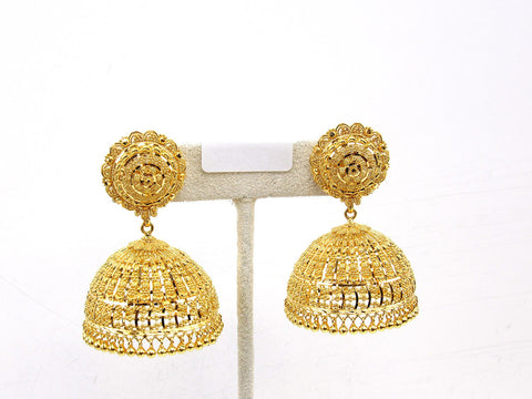 38.60g 22Kt Gold Jumki Earrings - 2142