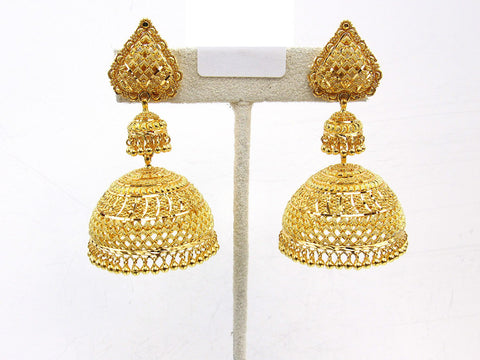 38.90g 22Kt Gold Jumki Earrings - 2143