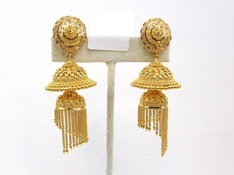 32.70g 22Kt Gold Jumki Earrings - 2146