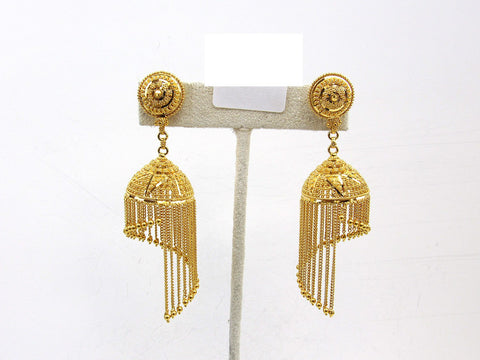 25.80g 22Kt Gold Jumki Earrings - 2148