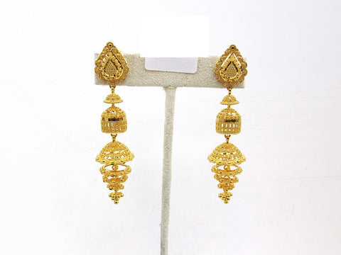 23.10g 22Kt Gold Jumki Earrings - 2149