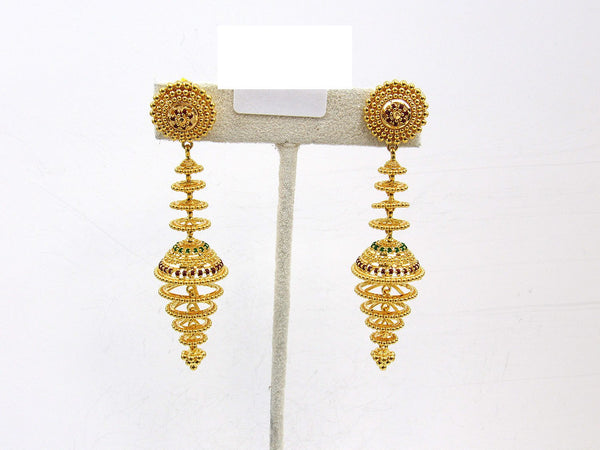 24.40g 22Kt Gold Jumki Earrings - 2151