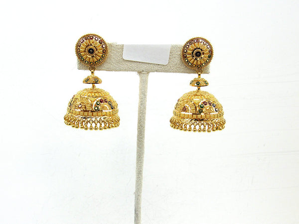 29.20g 22Kt Gold Jumki Earrings - 2152