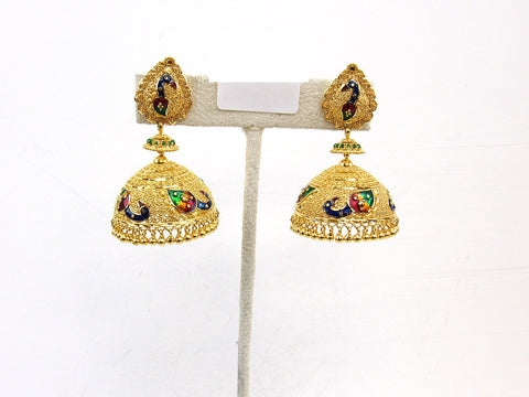28.60g 22Kt Gold Jumki Earrings - 2153