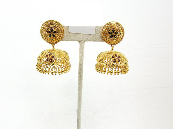 29.60g 22Kt Gold Jumki Earrings - 2154