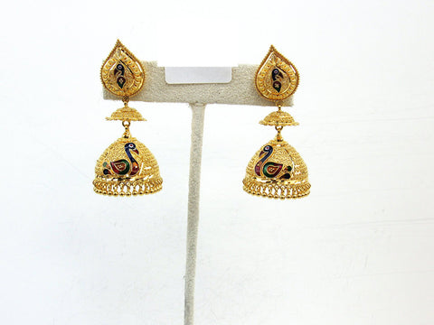 25.60g 22Kt Gold Jumki Earrings - 2155
