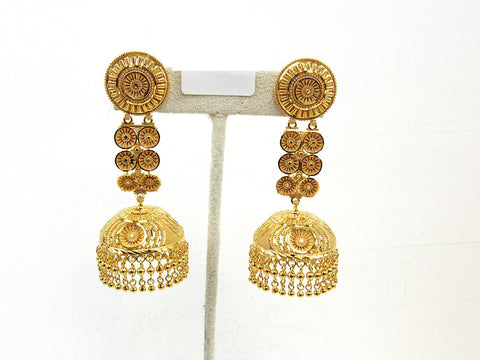 39.70g 22Kt Gold Jumki Earrings - 2156