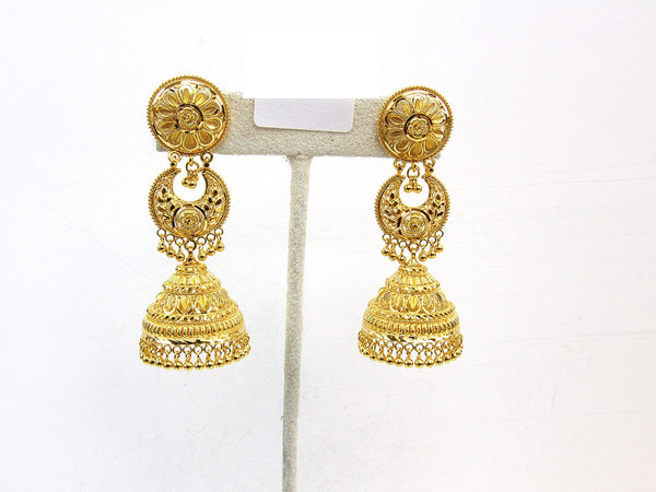 30.10g 22Kt Gold Jumki Earrings - 2157
