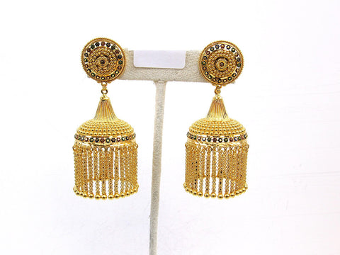 42.10g 22Kt Gold Jumki Earrings - 2158