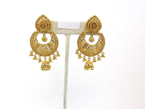 22.90g 22Kt Gold Jumki Earrings - 2160