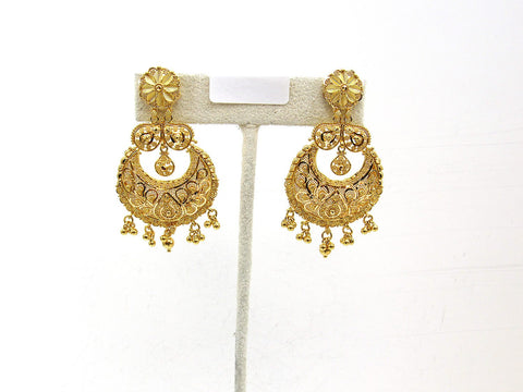 20.20g 22Kt Gold Jumki Earrings - 2161