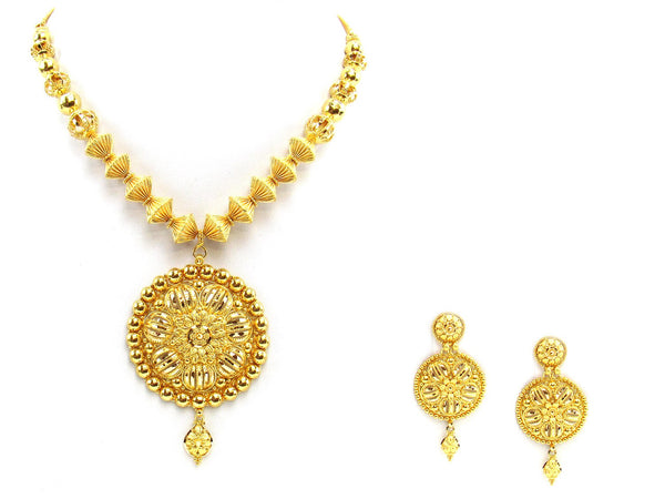 66.50g 22Kt Gold Yellow Necklace Set