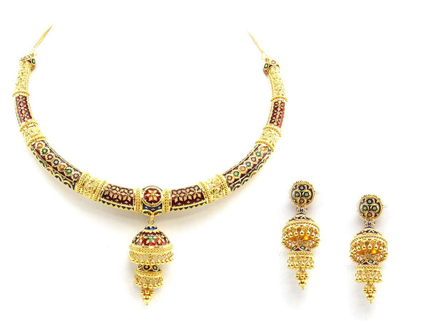 91.50g 22Kt Gold Yellow Necklace Set