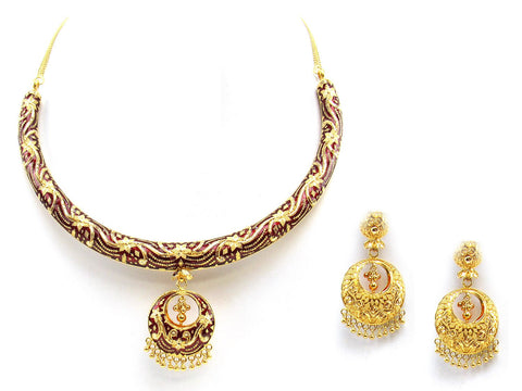 98.40g 22Kt Gold Yellow Necklace Set