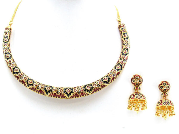 88.10g 22Kt Gold Yellow Necklace Set