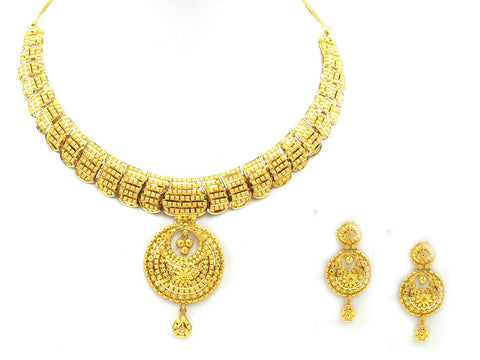 56.70g 22Kt Gold Yellow Necklace Set