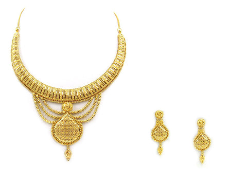 59.70g 22Kt Gold Yellow Necklace Set