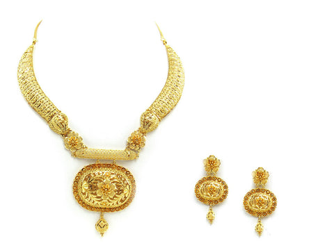 93.70g 22Kt Gold Yellow Necklace Set