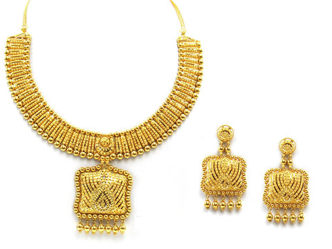94.70g 22Kt Gold Yellow Necklace Set