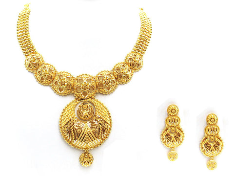 78.90g 22Kt Gold Yellow Necklace Set