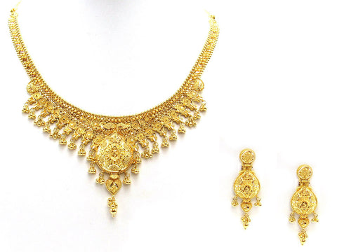 48.20g 22Kt Gold Yellow Necklace Set