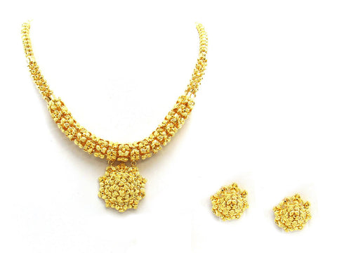 44.40g 22Kt Gold Yellow Necklace Set