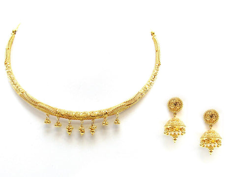 44.25g 22Kt Gold Yellow Necklace Set