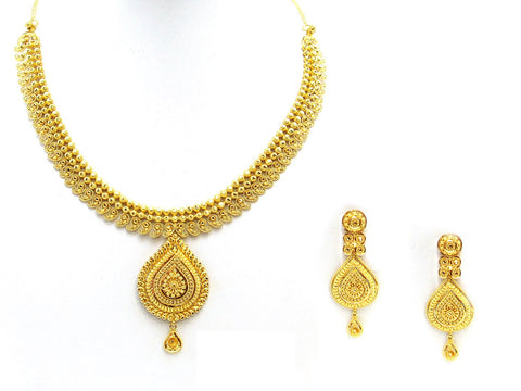 39.50g 22Kt Gold Yellow Necklace Set