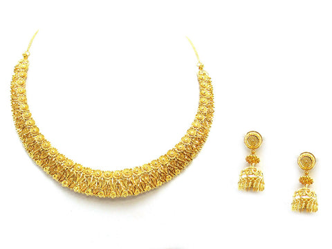 58.00g 22Kt Gold Yellow Necklace Set