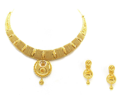 46.70g 22Kt Gold Yellow Necklace Set