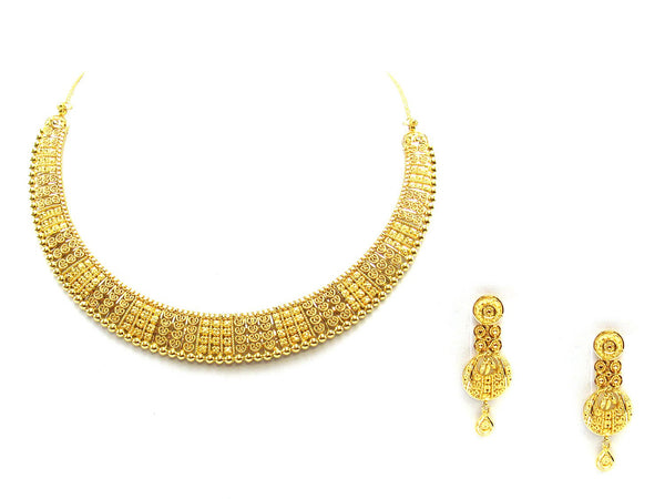 41.70g 22Kt Gold Yellow Necklace Set