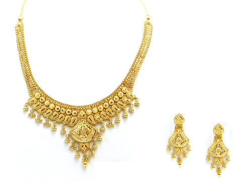 56.20g 22Kt Gold Yellow Necklace Set