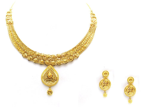 45.90g 22Kt Gold Yellow Necklace Set