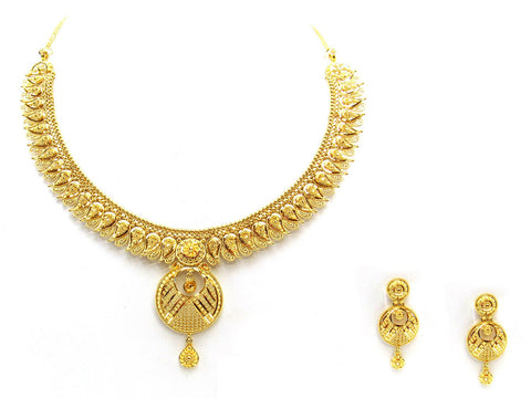 46.10g 22Kt Gold Yellow Necklace Set