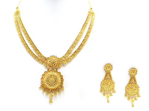 51.20g 22Kt Gold Yellow Necklace Set