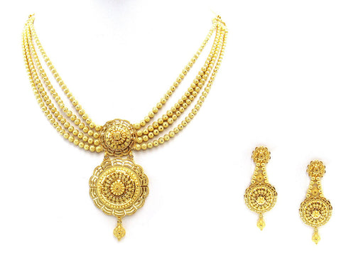 55.20g 22Kt Gold Yellow Necklace Set
