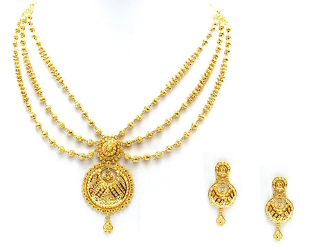44.50g 22Kt Gold Yellow Necklace Set