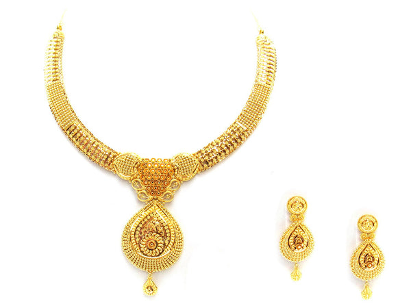 52.60g 22Kt Gold Yellow Necklace Set