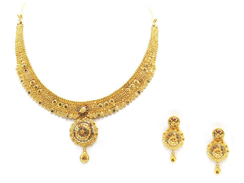 40.90g 22Kt Gold Yellow Necklace Set