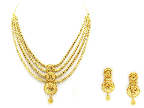 52.20g 22Kt Gold Yellow Necklace Set