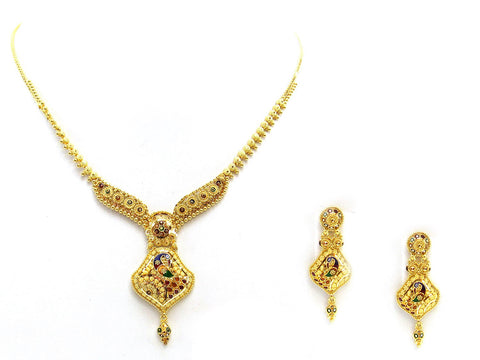 28.70g 22Kt Gold Yellow Necklace Set