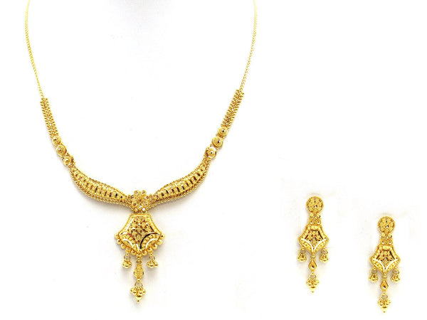 27.40g 22Kt Gold Yellow Necklace Set