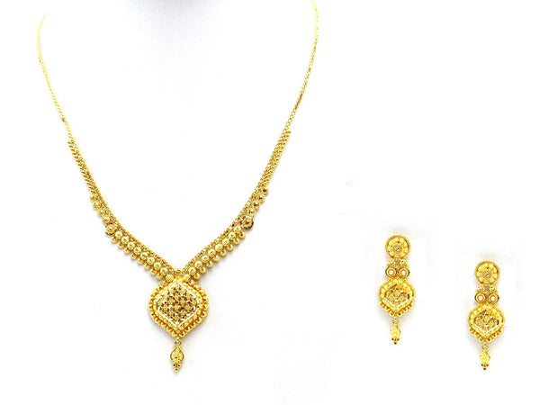 21.90g 22Kt Gold Yellow Necklace Set