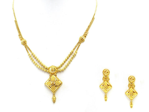 25.20g 22Kt Gold Yellow Necklace Set
