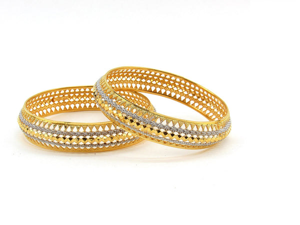 35.30g 22Kt Gold Stackable Bangle Set (Sz: 6)